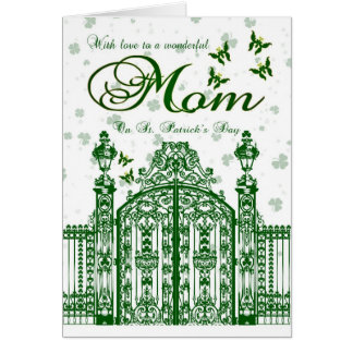 Mom St. Patrick's Day Card - Clover Gate And Butte