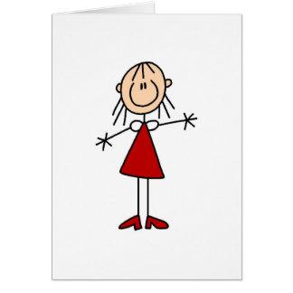 Mom Stick Figure Card