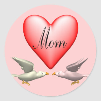 Mom T-shirts and Gifts For Her Classic Round Sticker