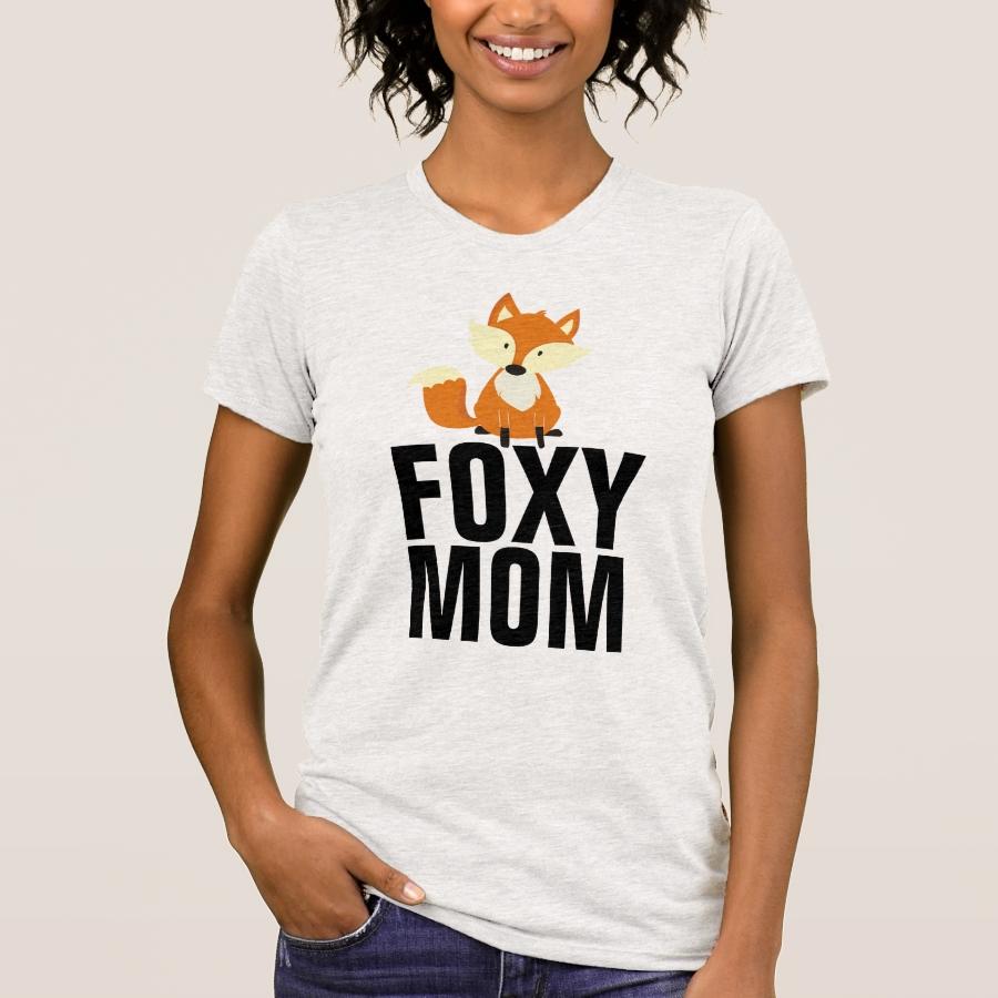 MOM T-Shirts, FOXY Fox T-Shirt - Best Selling Long-Sleeve Street Fashion Shirt Designs