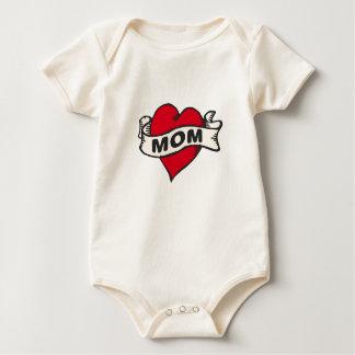 Mom Tattoo Baby Bodysuit