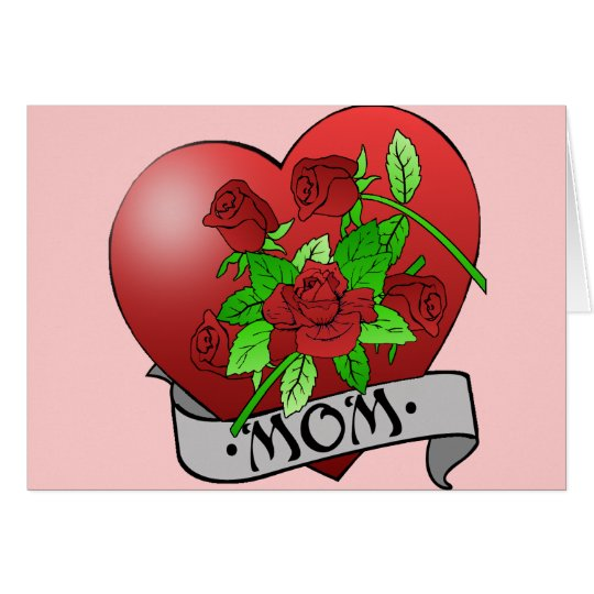 Mom Tattoo Gifts and T-shirts Card