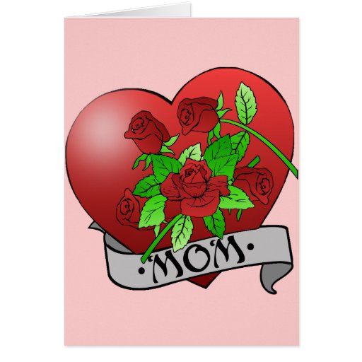Mom Tattoo Gifts and T-shirts Greeting Card