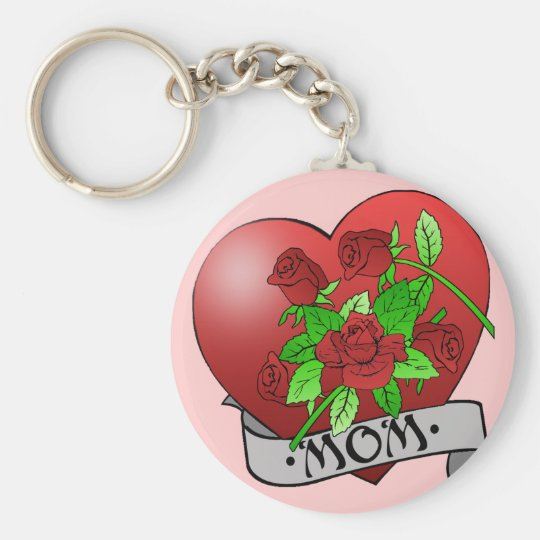Mom Tattoo Gifts and T-shirts Keychain