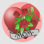 Mom Tattoo Gifts and T-shirts Classic Round Sticker