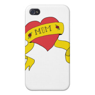 Mom Tattoo Heart Cover For iPhone 4