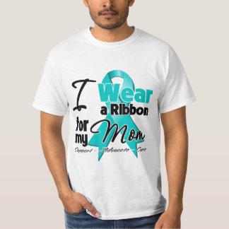Mom - Teal Awareness Ribbon T Shirt