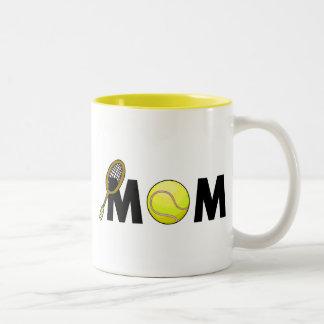 Mom Tennis Two-Tone Coffee Mug