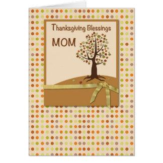 MOM, Thanksgiving Blessings, Polka Dots Card