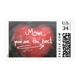 Mom = the Best Chalkboard Heart Mother's Day Stamp