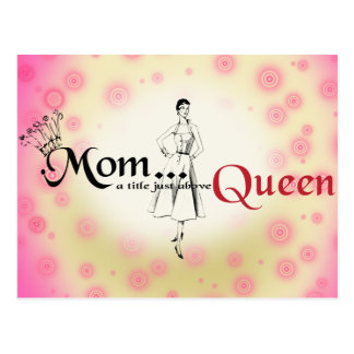 Mom Title Queen Postcard Horizontal Template