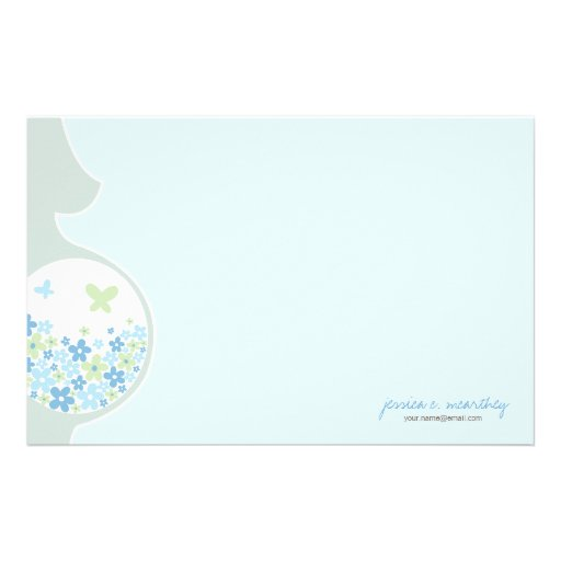 Mom To Be | Baby Boy Thank You Note Stationery