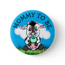 Mom to Be Baby Shower Button Farm Animal Themed