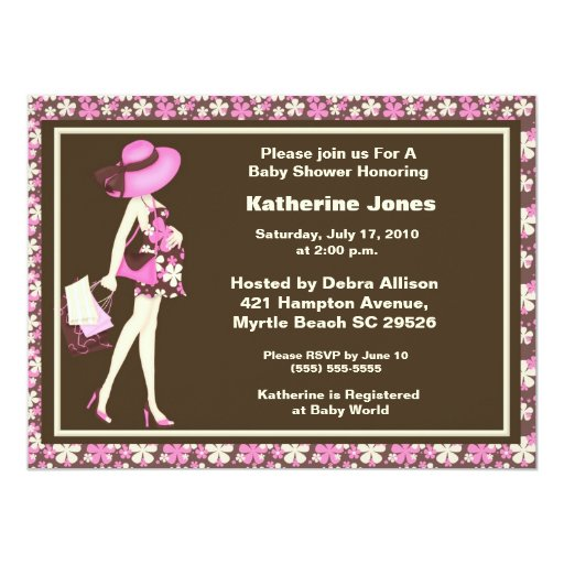 Mom to Be Baby Shower Invitation