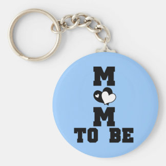 MOM to Be - Black Text Keychain