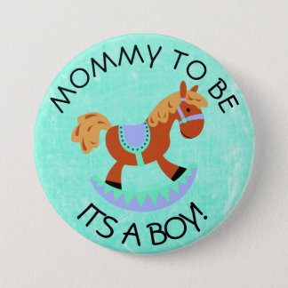 Mom to be Horse Rocker Baby Shower Button