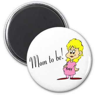 Mom To Be (Pregnant Woman) 2 Inch Round Magnet