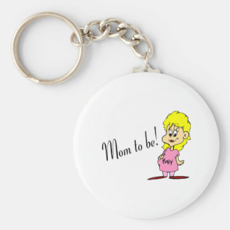 Mom To Be (Pregnant Woman) Keychains