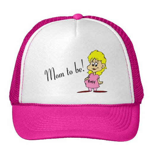 Mom To Be (Pregnant Woman) Trucker Hats