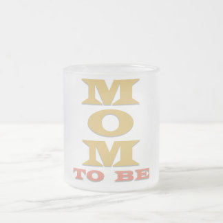 MOM to Be Tshirts and Gifts 10 Oz Frosted Glass Coffee Mug