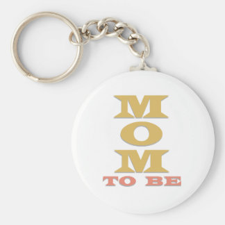 MOM to Be Tshirts and Gifts Basic Round Button Keychain
