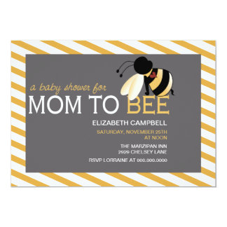 Mom-to-BEE Baby Shower Invitation - honeycomb