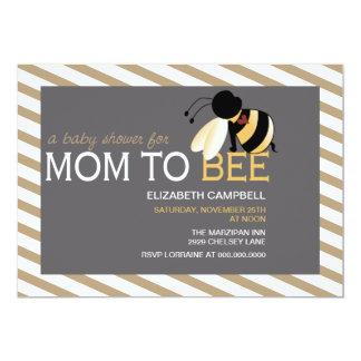 Mom-to-BEE Baby Shower Invitation - mocha latte