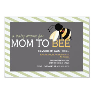 Mom-to-BEE Baby Shower Invitation - olive