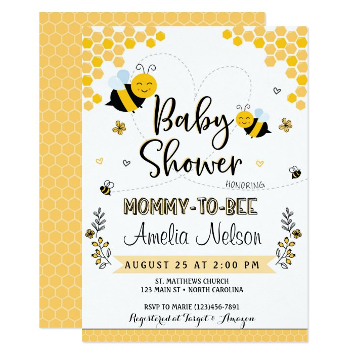 Mom To Bee Baby Shower Invitation