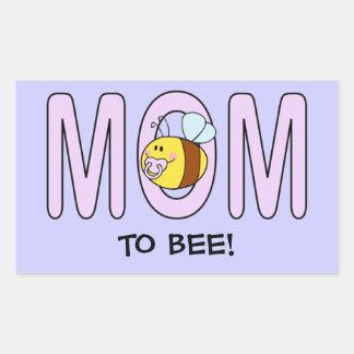 Mom To Bee (customizable) Rectangular Sticker