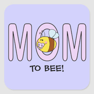 Mom To Bee (customizable) Square Sticker