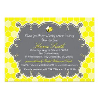 Mom to Bee, Honey Hive Baby Shower Invitation