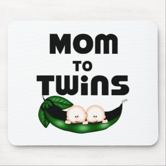 Mom to Twins (Peapod) Mouse Pad