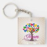 Mom Tree of Life Hearts Acrylic Keychains