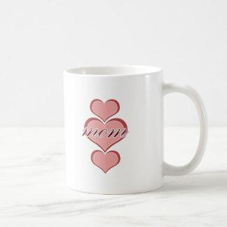 Mom Triple Heart Coffee Mug