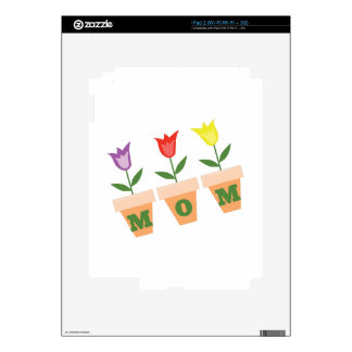 Mom Tulips Decal For The iPad 2