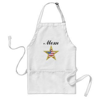 Mom (US Flag Star) Apron