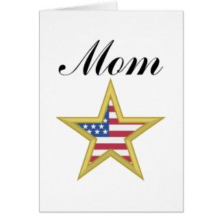 Mom (US Flag Star) Card