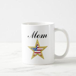 Mom (US Flag Star) Coffee Mug