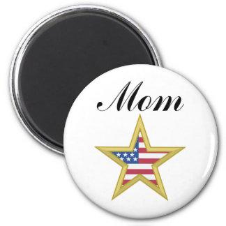 Mom (US Flag Star) Magnets