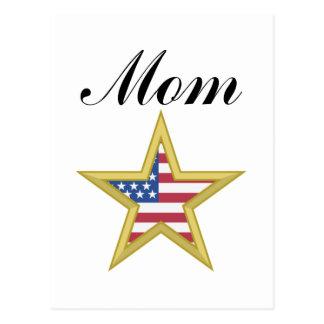 Mom (US Flag Star) Post Cards