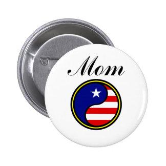 Mom (US Yin Yang) Button