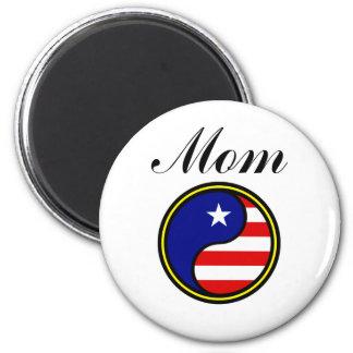Mom (US Yin Yang) Fridge Magnet