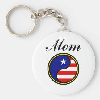 Mom (US Yin Yang) Keychain