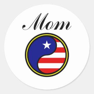 Mom (US Yin Yang) Sticker