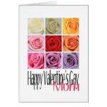 Mom Valentine's Gay, Rainbow Roses Card