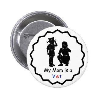 Mom Veteran Patriotic Pin