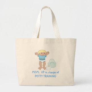 MOM: VP of Potty Training Canvas Bag