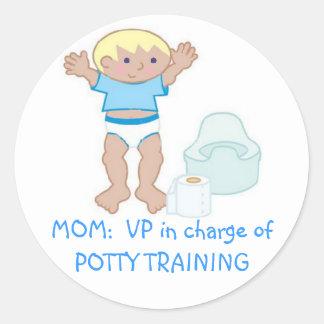 MOM VP of Potty Training Stickers