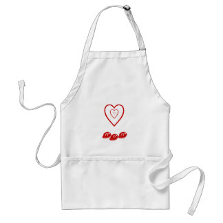 Mom w/hearts, apron